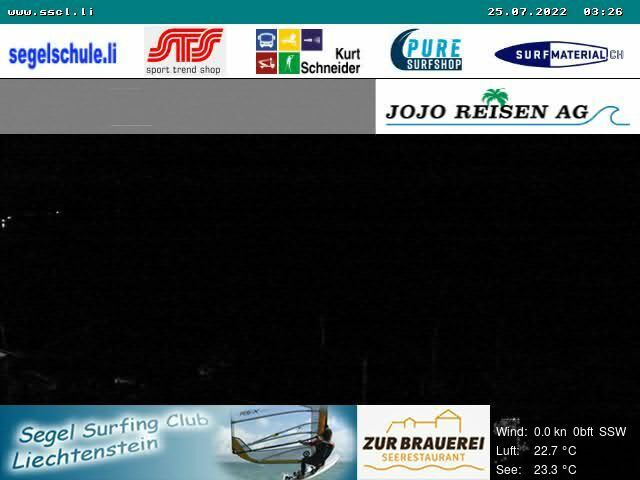 Webcam Segel Surfing Club Liechtenstein